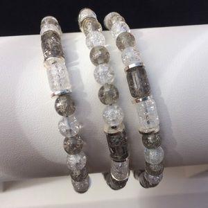 Jewelry - Handmade Crackle glass bracelet